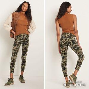 Pilcro High Rise Skinny Camouflage Corduroy Pants